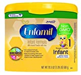 Enfamil Infant Non GMO Baby Formula 205 Oz Tub Pack of 4 by Mead Johnson Company