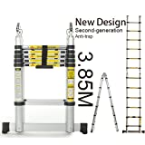 3.8m Multi-Purpose Folding Telescopic Aluminium Ladder (12.6FT) 'A' Frame Ladder T2