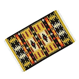 Jute Cotton American Pattern Floor Runner Hand Woven Rug Rag Carpet Mat Dari 59\