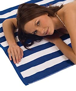 Terry Town Cabana Stripe Loop Beach Towel Royal