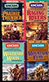 img - for Vol 1-4: Raging Rivers, Prairie Thunder, Mountain Fury, Westward Winds ~ Complete (The Kincaids ~ Western Series, 4 vol Complete Set) book / textbook / text book