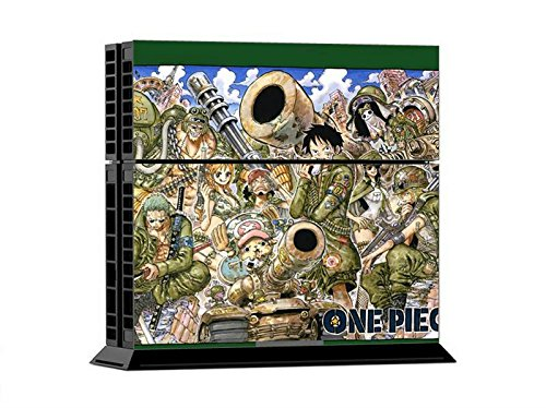 PS4 Console Designer Vinyl Skin and Free Controller Skin - One Green Piece Anime 10pcs lot vinyl for star wars ps4 sticker for sony playstation 4 console 2 controller skin sticker for ps4 skin free shipping