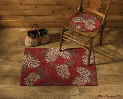 Park Designs Pinecone Hooked Rug, 24 x 36