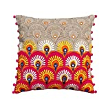 Colorful Bohemian Style Linen Pillow Cover Embroidered Moroccan Pillow Case Tribal Indian Craft Cushion Cover... - B00WK7V5JQ