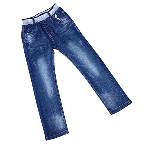 Zier bambini ragazzi lunghi del denim dei jeans mutanda casuale Pull Up elastico regolabile A88019