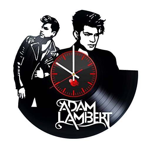Adam-Lambert-Handmade-Vinyl-Record-Wall-Clock-Fun-gift-Vintage-Unique-Home-decor-Art-Design-Retro-Interier