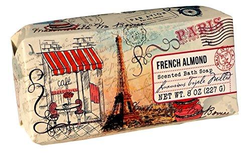 san-francisco-triple-milled-bath-bar-soap-pillow-gift-box-8-oz-each-french-almond-1-pack