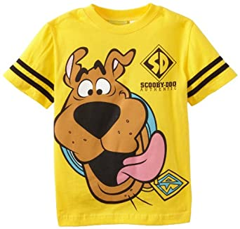 Scooby Doo Boys 2-7 Scooby Face Short Sleeve Tee, Bright Yellow, 4
