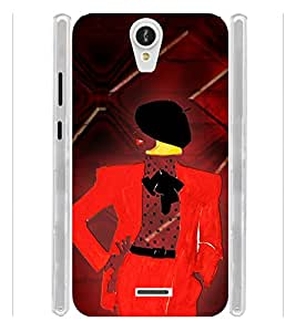 Manly Graphics Soft Silicon Rubberized Back Case Cover for Xolo Q600 Club