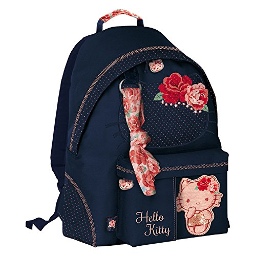 Giochi Preziosi Hello Kitty Passion Roses Zaino Tempo Libero per Bambini con Swarovski, 41 cm, Blu