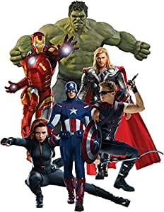The avengers decal wall sticker home decor art for Avengers wall mural amazon