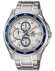 Casio Edifice Analog Silver Dial Men's Watch - EF-334D-7AVDF (ED422)