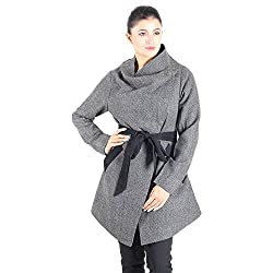 Black white twill Wool coat 6