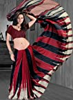 Strollay Red Art Silk Women - Sarees