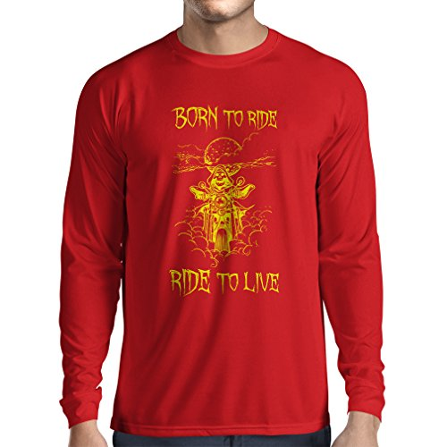 n4690l-t-shirt-a-manches-longues-born-to-ride-motorcycle-clothing-medium-rouge-multicolore