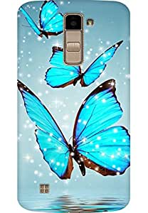 AMEZ designer printed 3d premium high quality back case cover for LG K10 (butterfly)