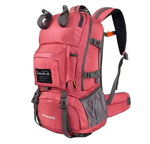 All'aperto alpinismo borse 40L uomini e donne da viaggio borsa impermeabile escursionismo zaino Campeggio , rose