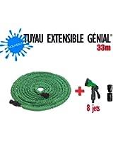 Nouveau Tuyau extensible Génial 33 M + Pistolet 8 jets + 2 Joints + Embouts Raccord Universel de Génial GARDEN by GREENTECH