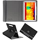 Acm Designer Rotating Leather Flip Case For Samsung Galaxy Note 10.1 P601 Tablet Cover Stand Black