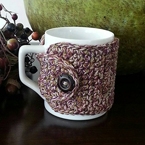 Coffee Mug Cozy-Purple/Olive/Pink (Wooden Coffee Mug Holder compare prices)