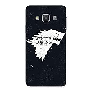 Gorgeous Comming Of Winter Back Case Cover for Galaxy A3
