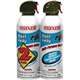 Maxell 190026 Blast Away Canned Air 154a Formula, 2 Pack