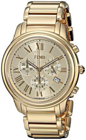 フェンディ Fendi Men's F252415000 Classico Analog Display Quartz Gold Watch 男性 メンズ 腕時計 【並行輸入品】