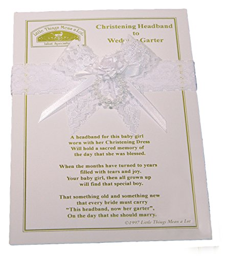 Christening Headband to Wedding Garter , White / One Size