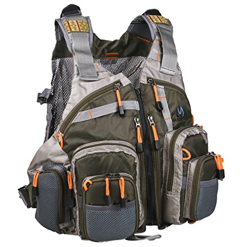 Brand new maxcatch fly fishing vest mesh vest free size ebay for Fishing vest amazon