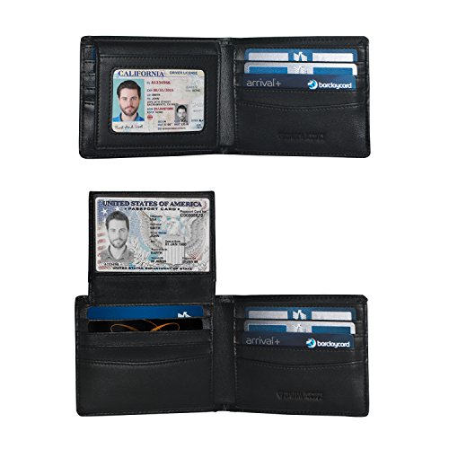 2 Window ID Holder RFID Wallet for Men, Multi Card Extra Capacity Travel Wallet, Ultimate Identity Theft And Credit Card Protection, Luxury Napa Leather Bifold Wallet - Sleek And Stylish Gift For Men (Mens Wallets Id Protection compare prices)