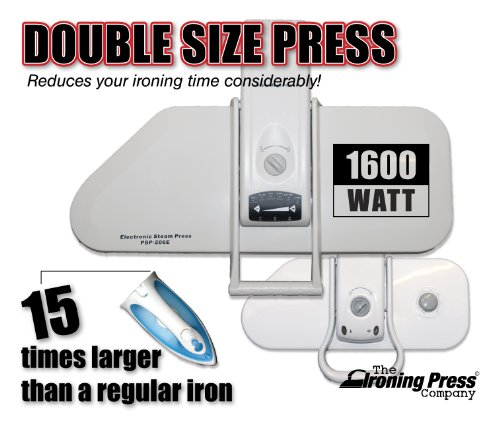 Presse à Repasser Vapeur 1600watt 50% plus grande presse à vapeur super Mega