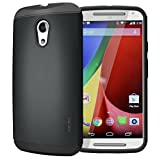 Tudia Ultra Slim Lite TPU Bumper Protective Case for Motorola Moto G 2nd Gen 2014 - Black
