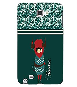 PrintDhaba Zodiac Taurus D-2745 Back Case Cover for SAMSUNG GALAXY NOTE 1 (Multi-Coloured)
