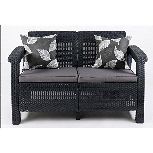 JUSThome-Corfu-Sofa-Couch-Gartenmbel-Rattan-2-Sitzer-Sofa-Anthrazit-Grau