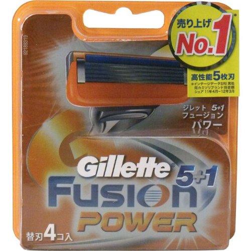 ジレット フュージョン5+1 パワー 替刃 4個入