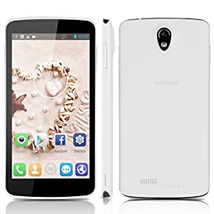 5.0'' DOOGEE MINT DG330 Touch Screen 3G Smartphone Android 4.2 MTK6582 Quad Core Mobile Phone Dual SIM 1G RAM 4G ROM GPS Cellphone WIFI (White)