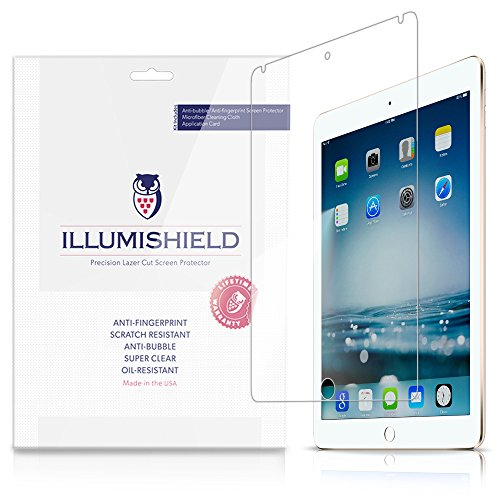 Illumishield - Apple Ipad Air 2 Screen Protector (2014) (6Th Generation) With Lifetime Replacement Warranty - Japanese Ultra Clear Hd Film With Anti-Bubble And Anti-Fingerprint - High Quality (Invisible) Lcd Shield - [2-Pack] Oem / Retail Packaging (6Th G