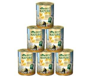 Dehner Best Nature Katzenfutter Adult Herbstmenü Huhn und Wildkaninchen, 6 x 400 g (2.4 kg)