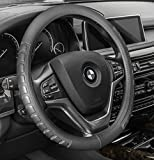 FH Group FH2006GRAY Steering Wheel Cover (Microfiber Embossed Leather Gray)