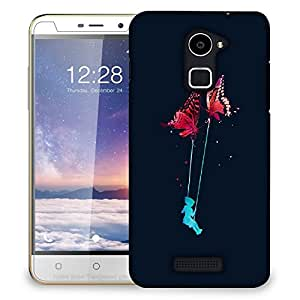 Snoogg Butterfly Swing Designer Protective Back Case Cover For COOLPAD NOTE 3 LITE
