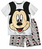 Boys' Disney Mickey Mouse shorty pyjamas White 2-3,3-4,4-5,5-6,7-8