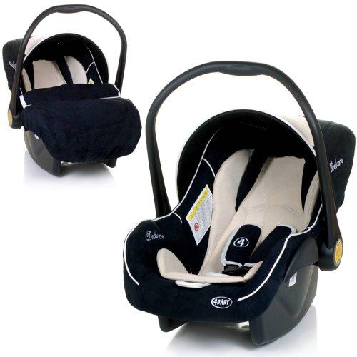 Babyschale DELUXE Autositz Babytrage + Fußsack & Sonnendach...