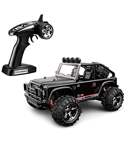 TOZO C1155 RC CAR Battleax High Speed 32MPH 4x4 Fast Race Cars 1:22 RC SCALE RTR Racing 4WD ELECTRIC POWER BUGGY W/2.4G Radio Remote control Off Road Powersport black (Rc Electric Car Fast compare prices)