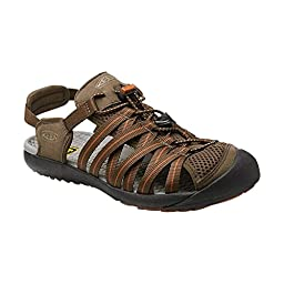 KEEN Men\'s Kuta Sandal, Cascade Brown/Gingerbread, 8 M US
