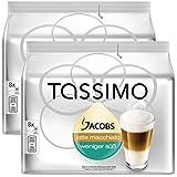 Bosch Tassimo 'Jacobs Latte Macchiato - Low Sugar' T Disc Coffee Machine Capsules (2 Packs of 8 Servings)