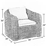 Abba Patio Outdoor/Porch Wicker/Rattan/Leisure Sofa Protective Covers, Weatherproof for 1 Seat, Tan Color, Small
