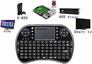 (Updated Version with Much Stronger Signal)iPazzPort Raspberry Pi/XBMC Mini Wireless Keyboard Touchpad Combo,Portable Remote for Android and Google Smart TV Box KP-810-21S