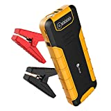 [PD 30W Quick Charger] iClever 800A Peak 20000mAh Car Jump Starter, Power Delivery 30W USB Type-C Power Bank with Dual USB 3.0 Quick Charging for Nintendo Switch, MacBook 2015/ 2016, USB Type C Laptop