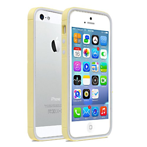 Moon Monkey Lightweight Ultra-Thin Soft Bumper Protective Frame Slim Case For Iphone 5 5S (Mm394) (Yellow)