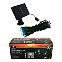 Garden kraft 15580 Benross 50 LED Solar String Lights - Multi-Coloured from Benross Group
